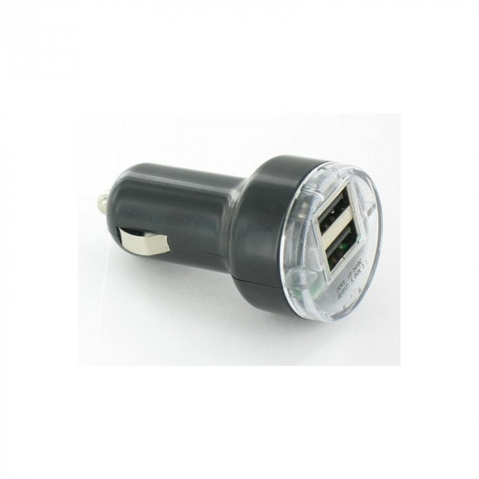 Incarcator auto USB 2 Porturi 2A 12V YPU721 foto mare