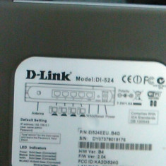 Router D-link Dl-524 AirPlus G - Router wireless D-link, Porturi LAN: 4