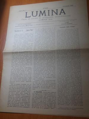 ziarul lumina octombrie 1895-organ al cercului de propaganda social democrata foto