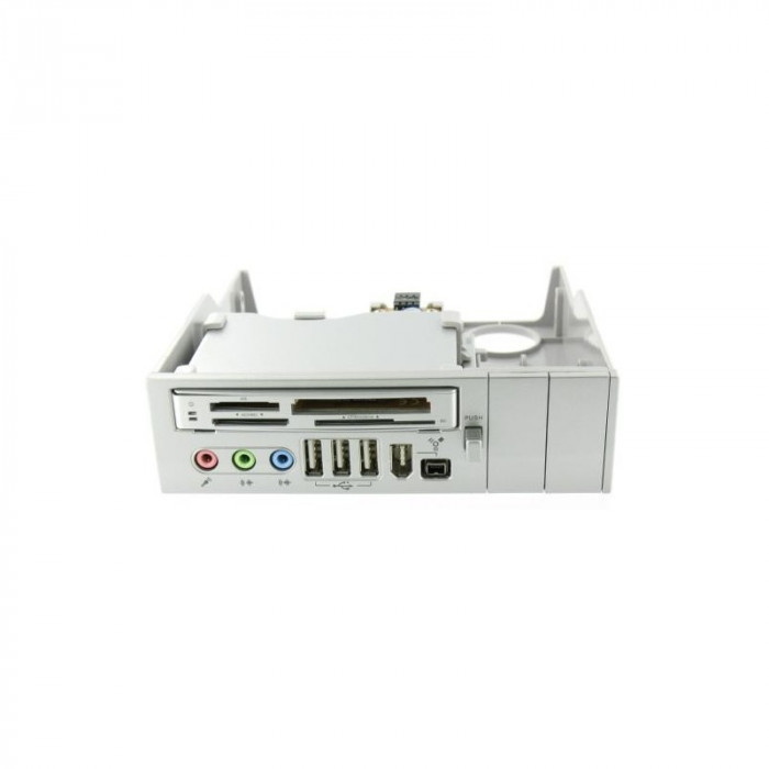 Panel 5.25 Silver 64 in 1 - Cardreader USB Firewir