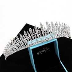 Diadema / coronita / tiara mireasa cu cristale tip Swarovski