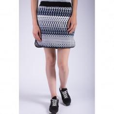 Fusta Scurta Vero Moda Gradie Gross Skirt Snow White Black Iris