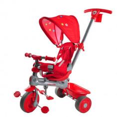 Tricicleta 4 in 1 Giraffe Red Baby Trike - Tricicleta copii