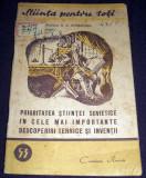 Prioritatea stiintei sovietice, Stiinta pentru toti, Cartea Rusa 1951, Alta editura