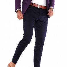 Pantaloni bleumarin eleganti  - pantaloni barbati - 9281, Din imagine