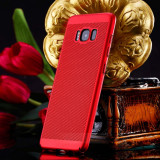 Husa Samsung Galaxy J7 2016 Perforata Rosie, Alt model telefon Samsung, Rosu, Plastic