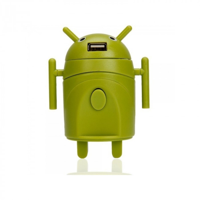 Android Style Multi-Function Power Plug Adaptor Gr foto mare