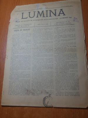 "ziarul lumina februarie-martie 1897-articolul "" lupta de clase "" foto"