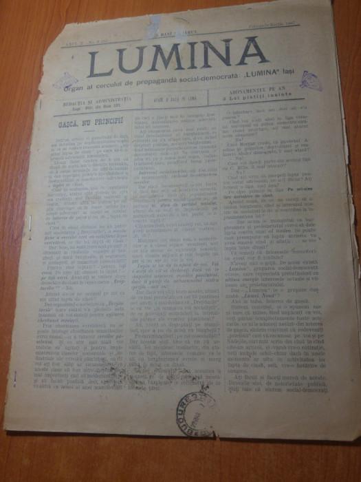 "ziarul lumina februarie-martie 1897-articolul "" lupta de clase """