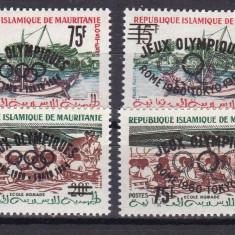 Mauritania 1962 sport olimpiada MI 182-183 I + II suprat. MNH w46 - Timbre straine, Nestampilat