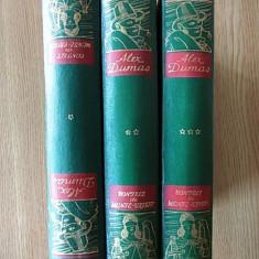 CONTELE DE MONTE CRISTO- DUMAS, VOL.I, II, III- traducere de GELLU NAUM, cartonate - Carte de colectie