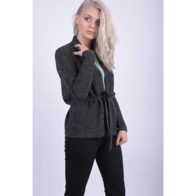 Cardigan Vero Moda Joya Belt Dark Grey Melange foto