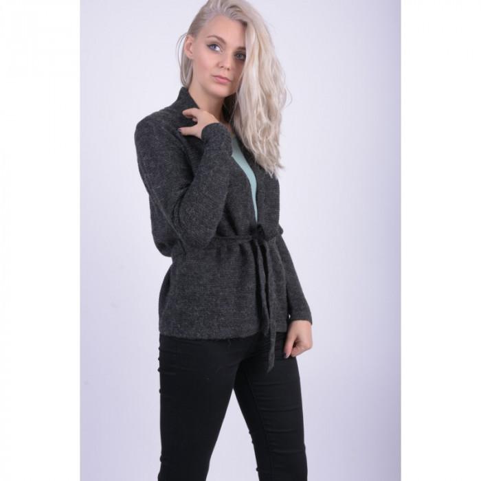 Cardigan Vero Moda Joya Belt Dark Grey Melange foto mare