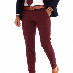 Pantaloni grena eleganti  - pantaloni barbati - 9279, Din imagine
