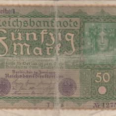 GERMANIA 50 marci 1919 F+/VF-!!!