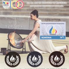 100 ANI DE OLIMPISM, BLOC 2014, MNH, ROMANIA. - Timbre Romania, Sport, Nestampilat