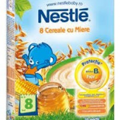 Cereale bebelusi Nestle 8 Cereale cu Miere, fara lapte, de la 8 luni - Cereale copii