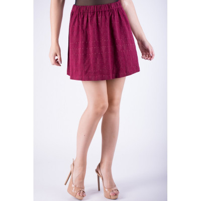 Fusta Scurta Vero Moda Vmisabel Mini Beet Red foto