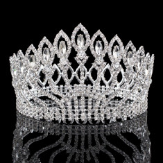 Coroana inalta cu cristale Miss Universe - Tiare mireasa