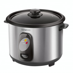 Aparat de gatit orez Sencor SRM 1550SS Rice Cooker 500W Silver - Aparat Gatit Aburi