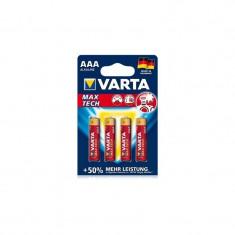 4x baterii AAA (LR3) Varta MAX TECH