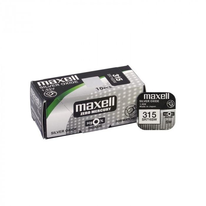 Maxell 315 / 314 / SR 716 SW baterie plata foto mare