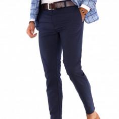 Pantaloni bleumarin eleganti - pantaloni barbati - 9290, Marime: 30, 31, Culoare: Din imagine