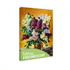 Tablou fosforescent Liliac multicolor - Tablou canvas