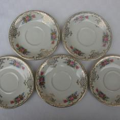 Set de cinci farfurioare din portelan fin german ROSENTHAL, Decorative