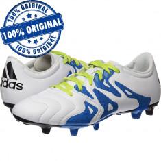 Pantofi sport Adidas X 15.3 Leather pentru barbati - ghete fotbal - originale, Marime: 42, 42 2/3, 43 1/3, 44, 44 2/3, 45 1/3, Culoare: Alb, Iarba: 1