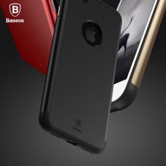 Husa Baseus Apple iPhone 8 TPU + Policarbonat protectie full dubla - Husa Telefon Baseus, Negru