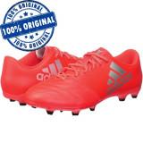 Pantofi sport Adidas X 16.3 Leather pentru barbati - ghete originale - fotbal, 43 1/3, 44, 44 2/3, Rosu