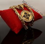Lant inox si Medalion Royal cod 1040E