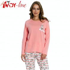 Pijamale Dama Maneca/Pantalon Lung, Vienetta Secret, Follow Your Dreams, Cod 1403, Marime: M, L, XL, Culoare: Roz