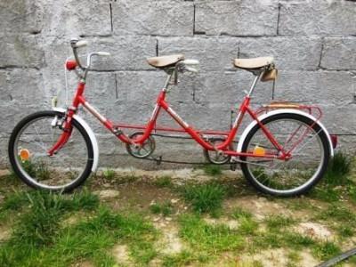 Bicicletă Pegas tandem, foarte rară, 1988 foto