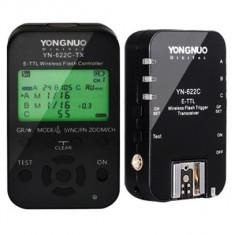 Yongnuo YN622C-TX + YN622C II kit declansare wireless E-TTL Canon