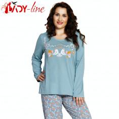 Pijamale Dama Marimi Mari, Vienetta Secret, Beauty, Cod 1481, Marime: XL, XXL, XXXL, XXXXL, Culoare: Verde