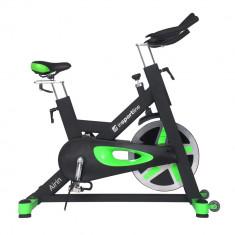 Bicicleta indoor cycling inSPORTline Airin/negu-verde - Bicicleta fitness inSPORTline, Max. 150