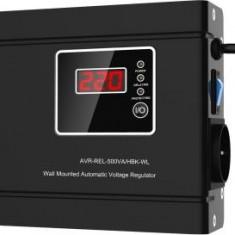 Stabilizator automat de tensiune cu releu orizontal Well AVR-REL-SLIMPOWER500-WL, 500VA - Stabilizator tensiune