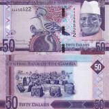 GAMBIA 50 dalasis ND 2015 UNC!!!