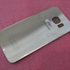 Carcasa Capac Sticla Spate + Adeziv Lipire Samsung Galaxy S6 Edge Gold Platinum - Capac baterie