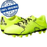 Pantofi sport Adidas X 15.4 pentru barbati - ghete fotbal originale, 42, 45 1/3, Verde