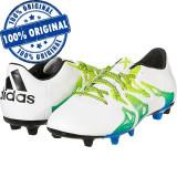 Pantofi sport Adidas X 15.3 pentru barbati - ghete fotbal - originale, 41 1/3, 43 1/3, Alb