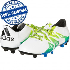 Pantofi sport Adidas X 15.3 pentru barbati - ghete fotbal - originale, Marime: 41 1/3, 42, 43 1/3, 44 2/3, Culoare: Alb, Iarba: 1