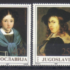 JUGOSLAVIA 1987, Pictura, serie neuzata, MNH