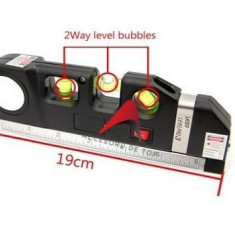 Nivela Profesionala cu laser + ruleta de 2.5 metri - Nivela laser cu linii