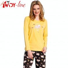 Pijamale Dama Maneca/Pantalon Lung, Vienetta Secret, Find Own Way, Cod 1402, Marime: L, XL, Culoare: Din imagine