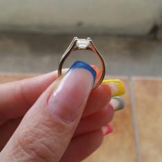 Inel aur cu diamant 1ct. - Inel diamant, Carataj aur: 18k, Culoare: Alb