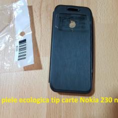 Husa piele ecologica tip carte Nokia 230 negru - Husa Telefon Nokia, Fara snur