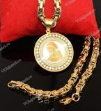 Lant inox si Medalion Maica Domnului cod 1040H